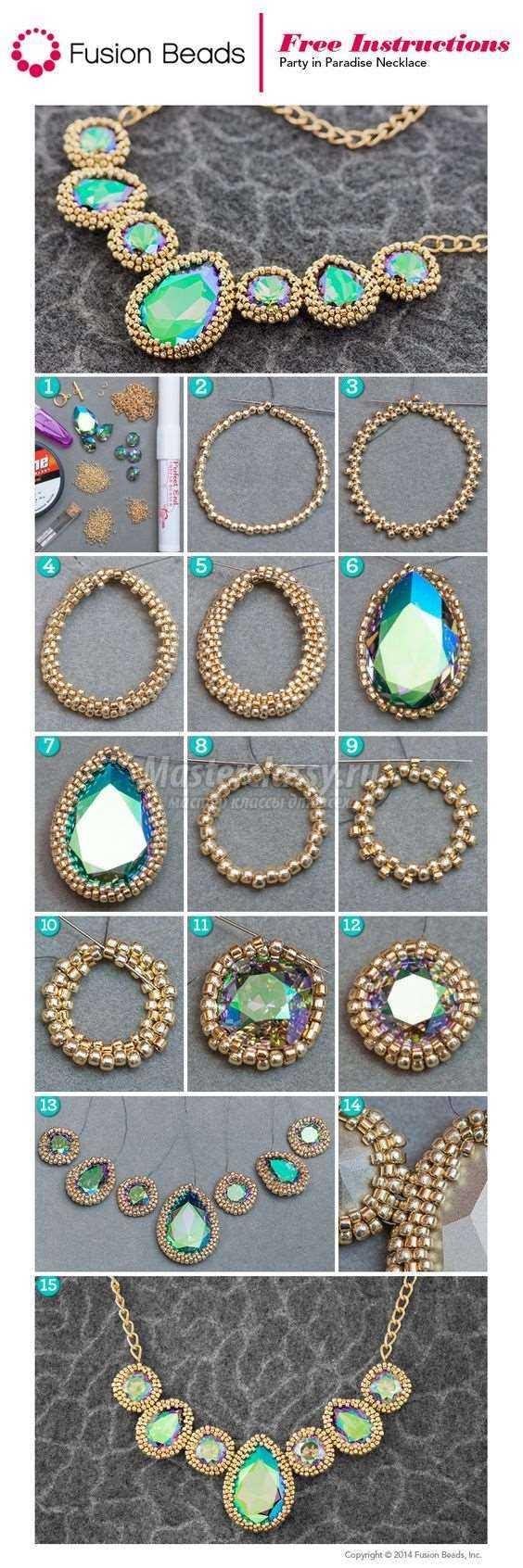 Ожерелье своими руками легкие