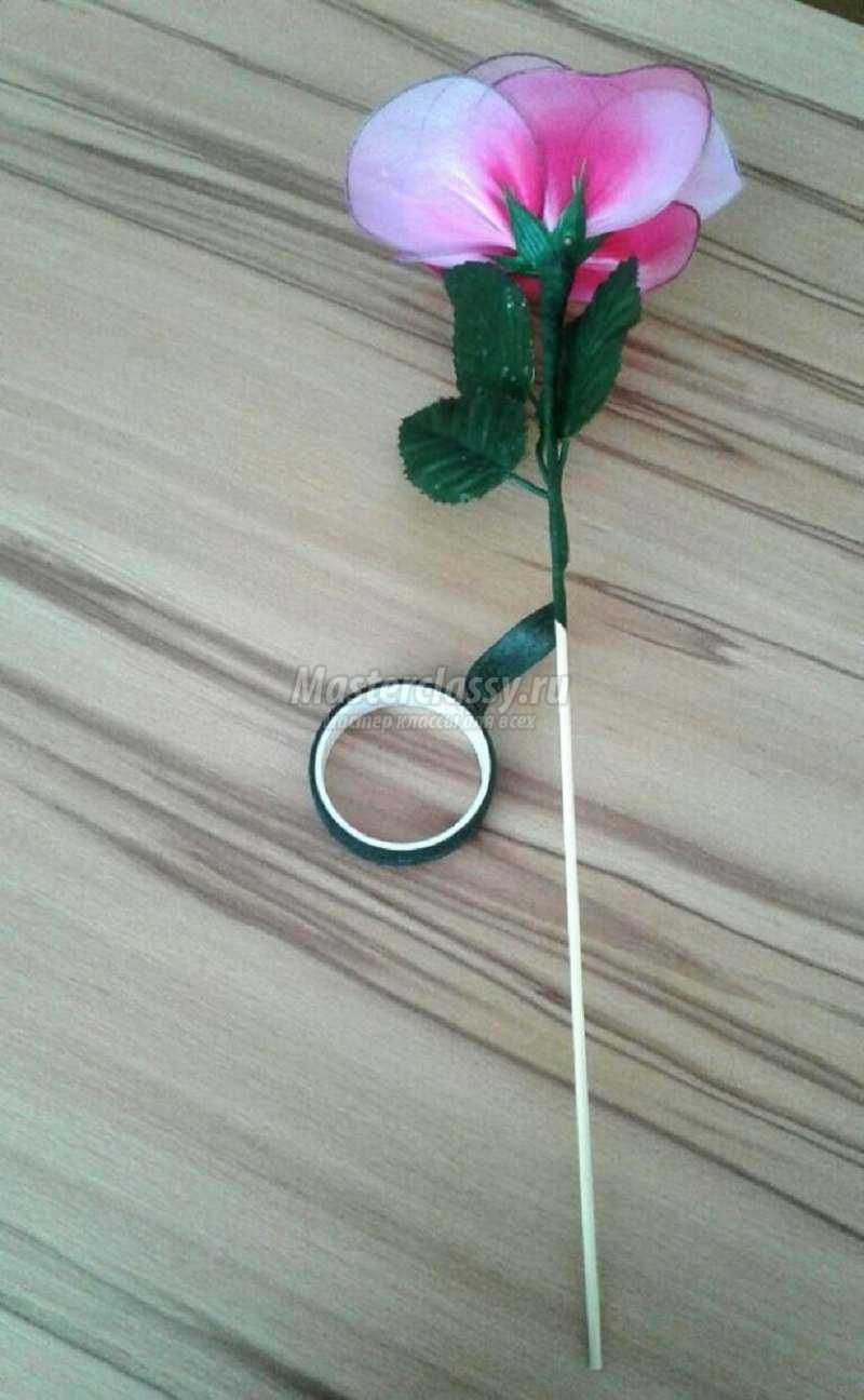 Как сделать розу из капрона фото 321