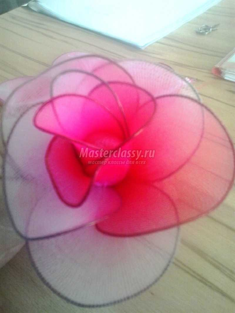Как сделать розу из капрона фото 169