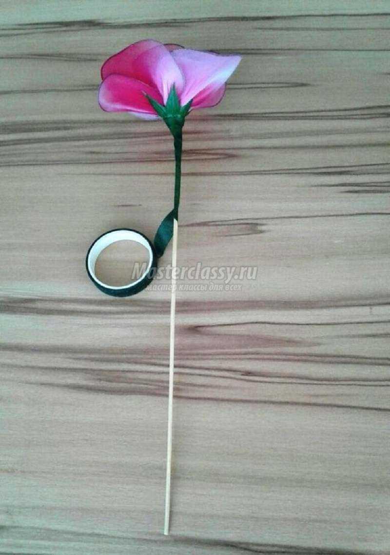 Как сделать розу из капрона фото 398