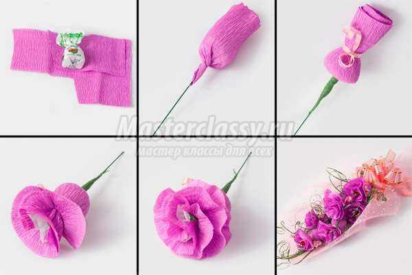 Цветы на 8 марта своими руками