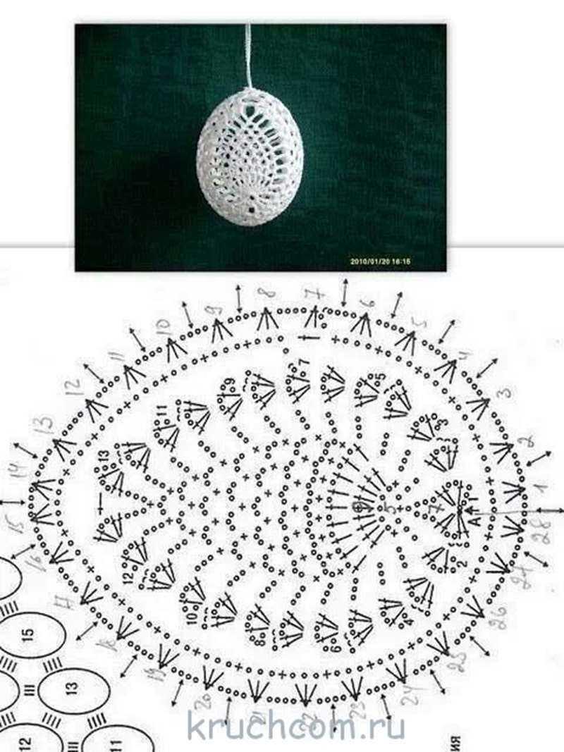 вязаные яйца схемы