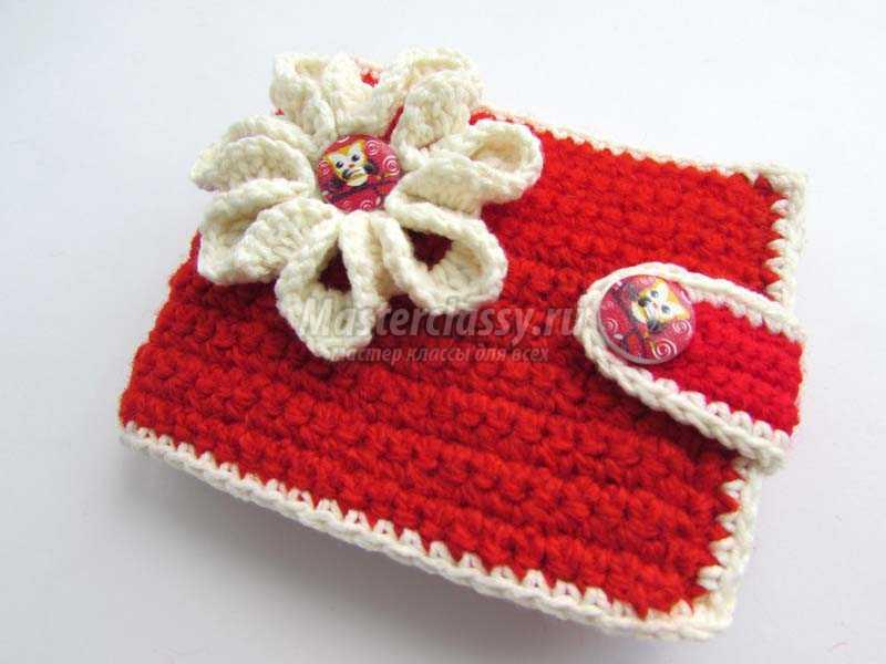 0b0629fa664f Детский вязаный кошелек для девочки с цветочком. Мастер-класс с фото