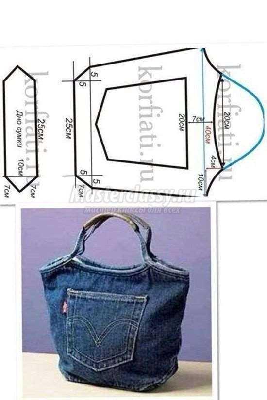 7f298fb8bc00 Как сшить сумку из джинсов своими руками: выкройки и описание. 100 ...