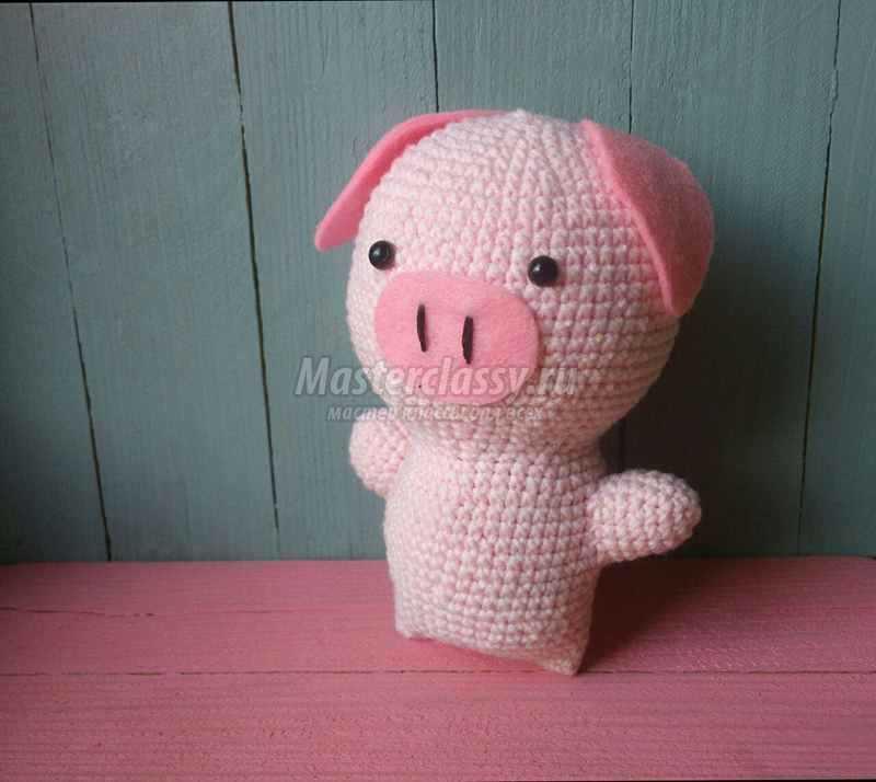 красивая свинья вязаная крючком пошаговый мастер класс и видео урок