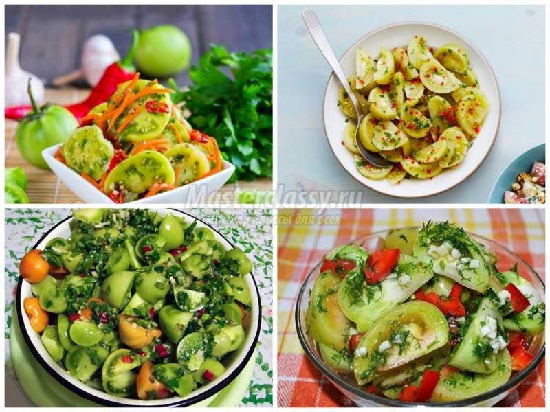 Зеленые помидоры с чесноком на зиму