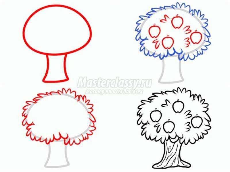 1540407667_collage2 Как нарисовать дерево