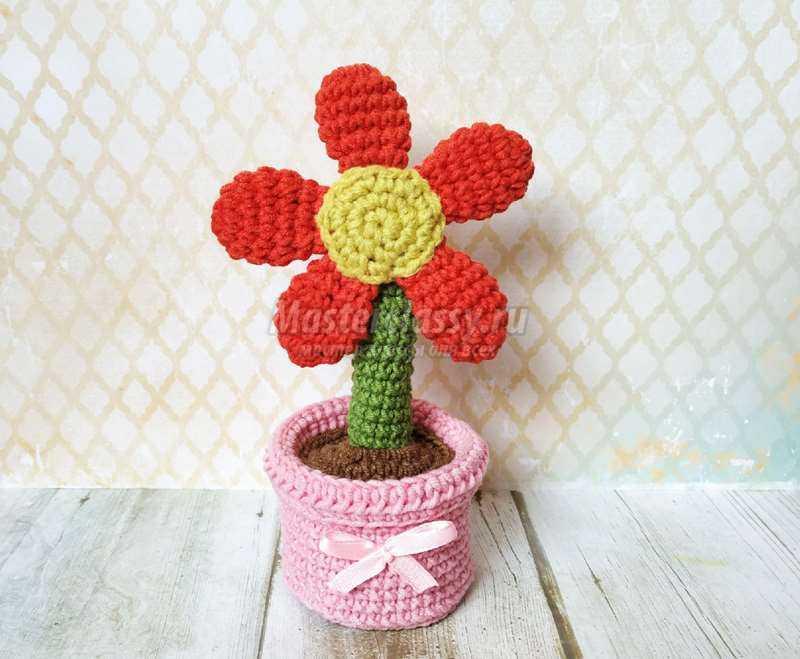подарок к 8 марта в виде горшочка с цветком пошаговый мастер класс